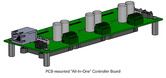 """PCB-mounted """"All-In-One"""" Controller Board"""