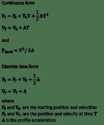 Trapezoidal Profile Equation